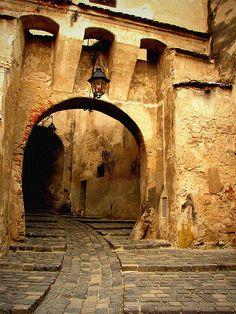 Sighisoara medieval city entrance, Romania by zmihai via flickr