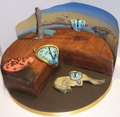Salvador Dali 'watch' cake by Di's Creative Cakes, via Flickr