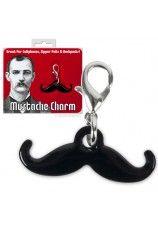 Mustache Charm Keyring @Heather Creswell Creswell Watkins-Thornton
