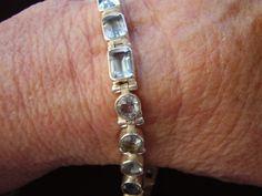 Vintage hand made Sterling Silver Blue Topaz by barbarasjewelbox, $225.00