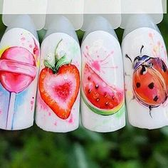 Strawberry Summer Fruit Drinking Stickers For Nails Manicure Nail Art Design Water Transfer Watermark Beauty Decals TRSTZ Strawberry Summer, Summer Fruit, Strawberry Nail Art, Pretty Halloween, Halloween Makeup, Nail Art Stickers, Nail Decorations, Makeup For Brown Eyes, Perfect Makeup