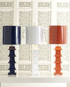 """Shop Lacquered """"Pagoda"""" Lamp at Horchow, where you'll find new lower shipping on hundreds of home furnishings and gifts. Cool Lamps, Chinoiserie Chic, One Bedroom Apartment, Recycled Glass, Lighting Design, Light Fixtures, Table Lamp, Modern Lamps, Home Decor"""