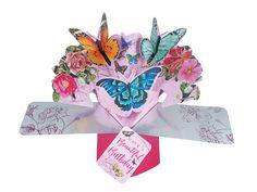 verjaardagskaart - pop ups - have a beautiful birthday - vlinders Pop Up Greeting Cards, Pop Up Cards, Butterfly Birthday Cards, Nature 3d, Birthday Letters, Birthday Presents, Birthdays, Stationery, Happy Birthday