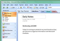 How to Organize Your Life with OneNote