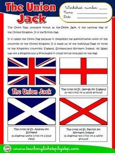 The Union Jack - Worksheet English Day, English Reading, English Study, Learn English, English Resources, English Activities, English Lessons, English Primary School, English Classroom