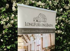 Roller banner created to promote a high end local wedding venue Long Furlong Barn. If you need a roller banner for your business please get in touch.