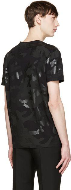 Valentino Black Camouflage T-Shirt