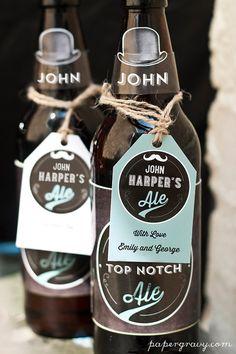 Personalised digital Printable Beer Bottle labels