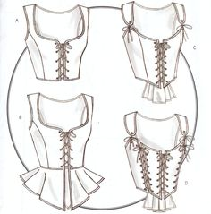 Historical Costume Corset Pattern B4669 NEW 14 16 18 20