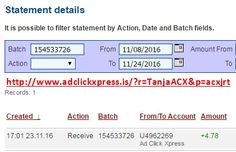 Here is my #118 Withdrawal Proof from Ad Click Xpress. I get paid daily and I can withdraw daily. Online income is possible with ACX, who is definitely paying - no scam here. I WORK FROM HOME less than 10 minutes and I manage to cover my LOW SALARY INCOME. If you are a PASSIVE INCOME SEEKER, then AdClickXpress (Ad Click Xpress) is the best ONLINE OPPORTUNITY for you. Join for FREE and get 20$ + 10$ + 5$ Monsoon, Ad and Media value packs from ACX.