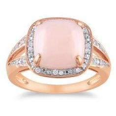 @Overstock.com - Cushion-cut pink opal and white diamonds cocktail ringPink SilverClick here for ring sizing guidehttp://www.overstock.com/Jewelry-Watches/Miadora-Pink-Silver-5ct-TGW-Opal-1-10ct-TDW-Diamond-Ring-G-H-I2-3/6328024/product.html?CID=214117 $79.99