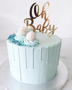 55 Trendy Ideas For Baby Shower Boy Cake Drip - K's Birthday Cake - Baby Shower Brunch, Torta Baby Shower, Baby Shower Cakes For Boys, Baby Boy Shower, Baby Shower Drip Cake, Baby Showers, Baby Shower Favours, Gateau Baby Shower Garcon, Baby Boy Cake Topper