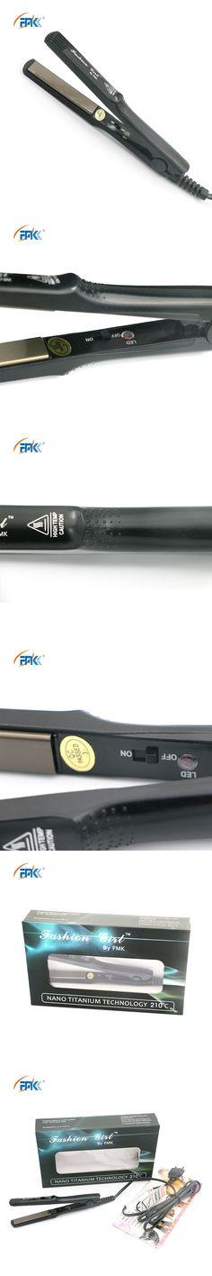 FMK Pro Brand Design Hair Straightener Flat Iron Protable Mini Flat Straightening Styling Tool Tourmaline Ceramic Worldwide Use