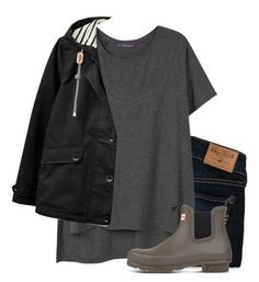 """""""☔️"""" by brooklm ❤ liked on Polyvore featuring Hollister Co., MANGO, Joules and Hunter"""