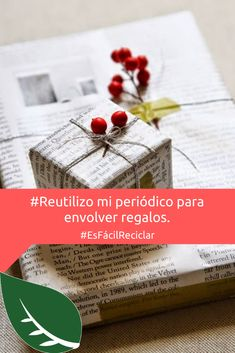 Recuérdale a Santa envolver los regalos con papel #Reciclado. 😉