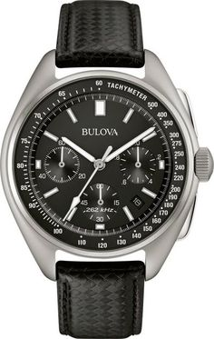 Bulova made space history on August the Apollo 15 mission, a moon pilot chronograph, customized for lunar conditions by Bulova engineers, was worn on the moon. Now Bulova makes history again with the special edition Lunar Pilot Chronograph, Speedmaster Professional, Omega Speedmaster, Cool Watches, Watches For Men, Casual Watches, Unique Watches, Cheap Watches, Beautiful Watches, Moon Watch
