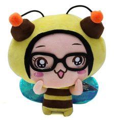 Plush Stuffed Hello Caicai Bee Shaped Toyat EVToys.com