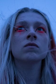 'Euphoria' Star Hunter Schafer Says Jules Forced Her to Revisit Difficult Parts of Her Transition - euphoria jules neon makeup aesthetic - Zendaya, Makeup Inspo, Makeup Inspiration, La Madone, Looks Halloween, Without Makeup, Aesthetic Makeup, Neon Aesthetic, Makeup Looks