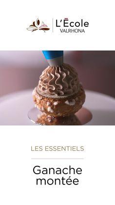 Mousse, Chocolat Valrhona, Caramel Ganache, Ganache Recipe, Gourmet Desserts, Eclairs, Cream Cake, Relleno, Macarons