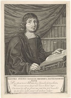 Jan Veenhuysen   Portret van de Amsterdamse predikant Johannes Sylvius, Jan Veenhuysen, Servaas Witteling, 1656 - 1686  