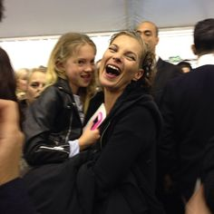 Backstage at Louis Vuitton with Lila Grace, feb 6 2013