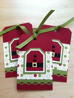 Christmas tag- Santa