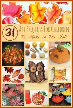 WONDERFUL Autumn Art Projects for Autumn.. one for every day of the Month.
