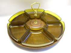 Vintage Lazy Susan Relish / Condiment Tray by sweetie2sweetie, $12.99