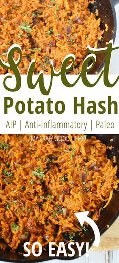 This shredded sweet potato hash is so filling and easy to make! Sweet Potato Breakfast Hash with red onions is a healthy anti-inflammatory food to start your morning with. The cinnamon and nutmeg add Healthy Breakfast Recipes, Healthy Recipes, Nutmeg Recipes Food, Shred Diet Recipes, Healthy Breakfast Potatoes, Nutritious Breakfast, Free Recipes, Vegetarian Recipes, Sweet Potato Breakfast Hash