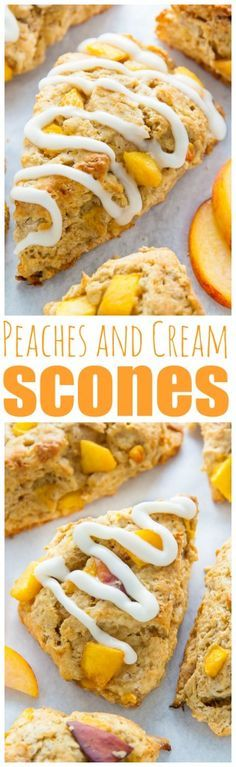 Moist yet crumbly, these Peaches and Cream Scones are the perfect Summer breakfast!