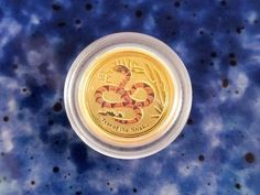 2013 1/20 oz Orange Colored Australian Gold Year of the Snake Series II Coin
