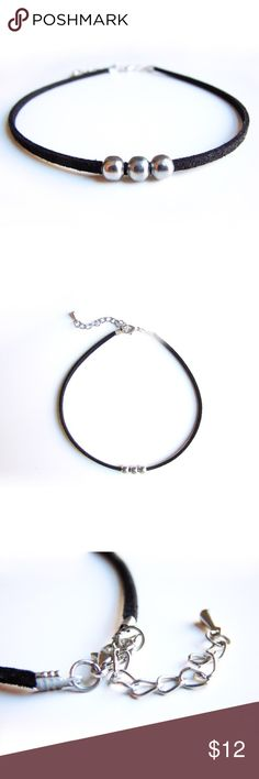 Simple Black suede choker necklace Shop this beautiful minimal suede choker necklace. Made with vegan suede. With a silver accent .not Zara. This choker is handmade in New York. Zara Jewelry Necklaces