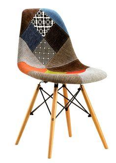 Silla Eames Patchwork: Un clásico con un twist deco. Tapizada en Patchwork para un look y un feeling super acogedor