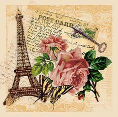 Vintage Paris postcard.