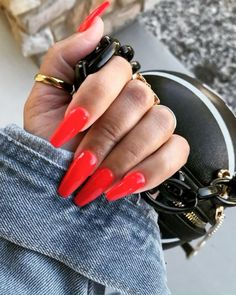 Red nails are so sexy to me. #longnails #rednailpolish