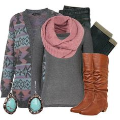 """Aztec Cardigan"" by qtpiekelso on Polyvore"