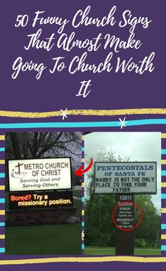 50 Funny Church Signs That Almost Make Going To Church Worth It Funny Church Signs, World 2020, Serving Others, April 10, Halloween Horror, You Are The Father, Halloween Decorations, Finding Yourself, How To Make