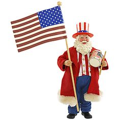 Fabriché™ USA Patriotic Musical Santa