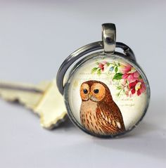 Keychains – Accessories owl Keychain – a unique product by MadamebutterflyMeagan on DaWanda