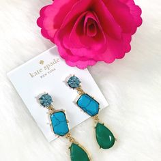 NWT Kate Spade Fiesta Earrings Gorgeous color palate for summer, these will add a little Kate Spade sparkle to any look! NWT - no flaws. kate spade Jewelry Earrings
