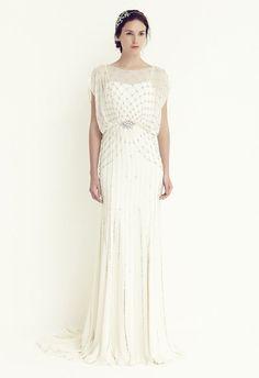 NWT Jenny Packham Wedding Dress Bardot Bridal Gatsby Deco 40's - Original $5100!