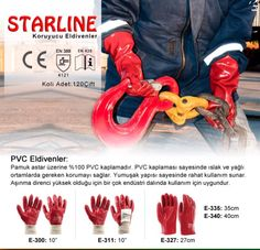 Pvc gloves for oily applications Protective Gloves
