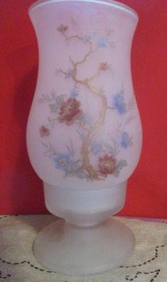 Viking glass fairy lamp light frosted white with flowers dogwood Japanese Pagoda, Viking Glass, Fairy Lamp, Tea Candles, Viking Art, Votive Holder, Hurricane Glass, Fairy Lights, Lamp Light