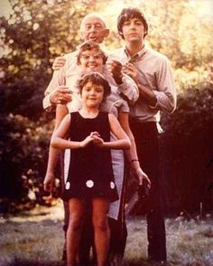 Paul with his Dad, and his Dad's second wife Angela, and adopted daughter Ruth.