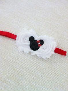 Baby Girl- Girl Headband- Mini Mouse- Red Bow - Headband For Girls