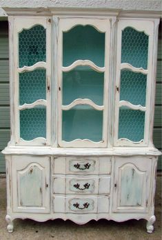 Moving Sale Shabby Chic Vintage French Country Hutch