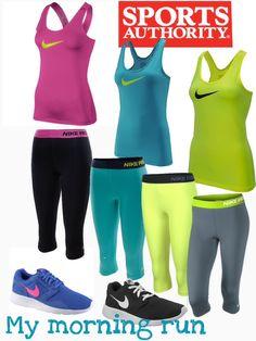 95db047f13db My morning run  ipod   pepper spray     Nike Women s Pro Tank   Capri   Nike  Kaishi Running Shoes