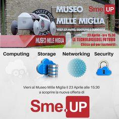 Scopri insieme a Sme.UP come integrare le tecnologie Cloud, Infrastruttura e Software per vincere nel business, in mezzo ai veicoli che hanno fatto la storia dell'automobile nel mondo, disponibili per una visita esclusiva ai soli clienti Sme.UP