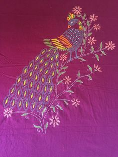 Basic Embroidery Stitches, Hand Embroidery Videos, Creative Embroidery, Indian Embroidery, Embroidery Suits, Hand Embroidery Patterns, Kantha Stitch, Runners, Blouse