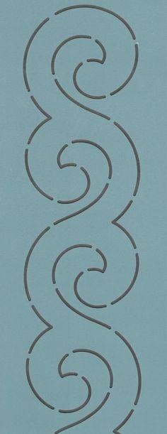 """Scroll Border 3.5"""" - The Stencil Company"""